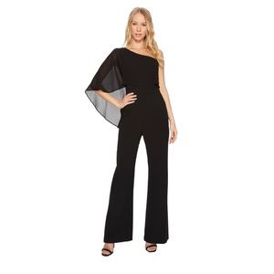 NWT Vince Camuto Cape One Shoulder Crepe Jumpsuit